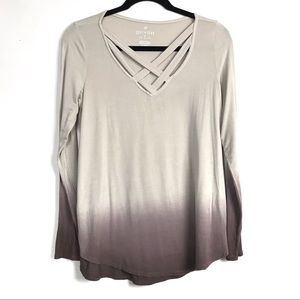 American Eagle AEO Soft & Sexy Ombré Blouse Med